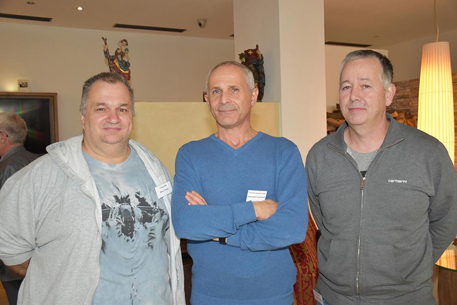 Mario Ploder (Solutions 2000, Hard), Alexander Feuerstein (Humantechnik, Feuerstein & Klocker GmbH) und Georg Bartenstein (Drucker & Mehr, Wolfurt); Foto Arno Riedmann
